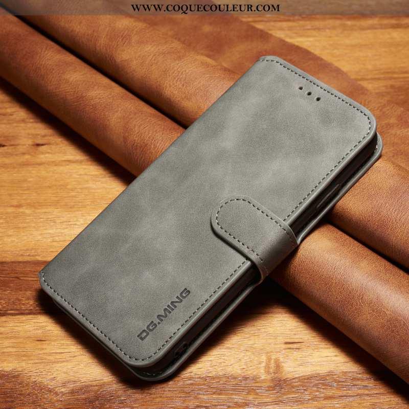 Coque Samsung Galaxy A71 Cuir Gris Coque, Housse Samsung Galaxy A71 Fluide Doux Téléphone Portable