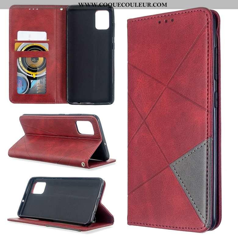 Housse Samsung Galaxy A71 Silicone Rouge Coque, Étui Samsung Galaxy A71 Protection