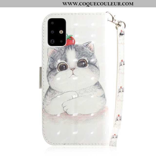 Housse Samsung Galaxy A71 Protection Coque, Étui Samsung Galaxy A71 Charmant Blanche