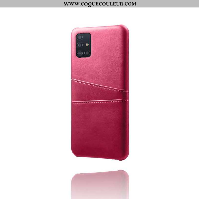 Housse Samsung Galaxy A71 Protection Étui Coque, Samsung Galaxy A71 Cuir Incassable Rose