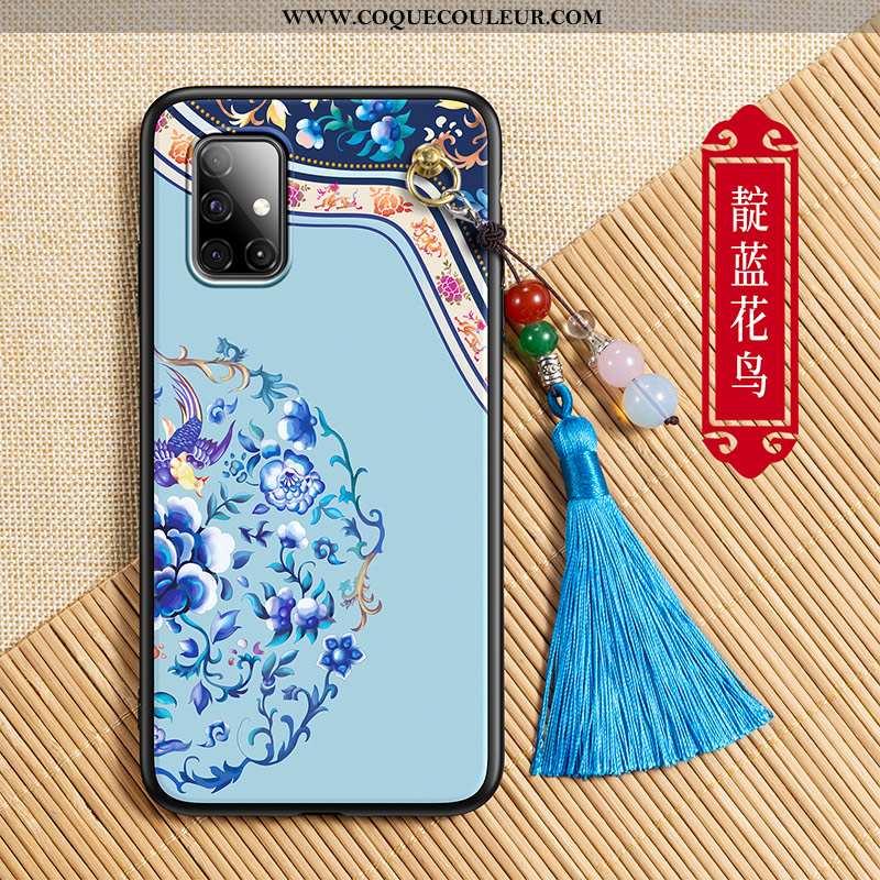 Coque Samsung Galaxy A71 Tendance Silicone Téléphone Portable, Housse Samsung Galaxy A71 Légère Bleu