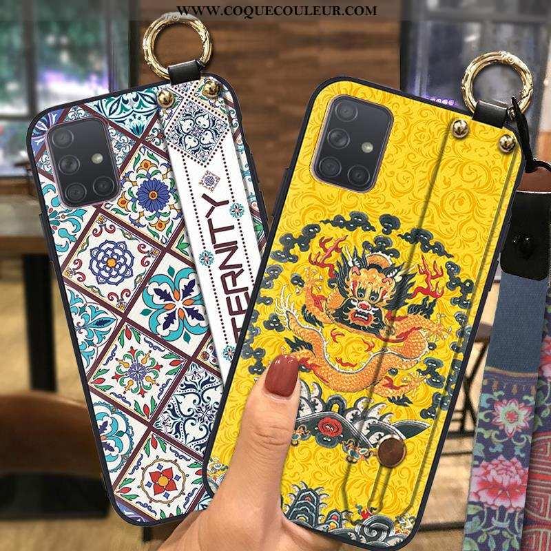Coque Samsung Galaxy A71 Ornements Suspendus Style Chinois Coque, Housse Samsung Galaxy A71 Fluide D