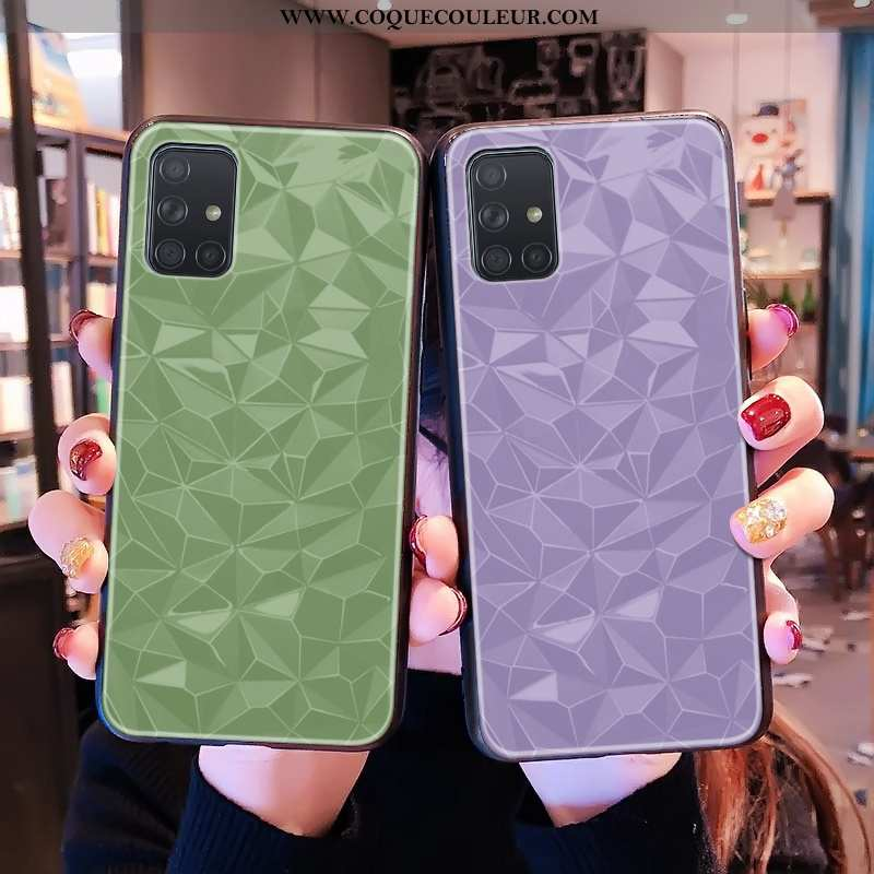 Housse Samsung Galaxy A71 Protection Violet Étui, Étui Samsung Galaxy A71 Personnalité Modèle Fleuri