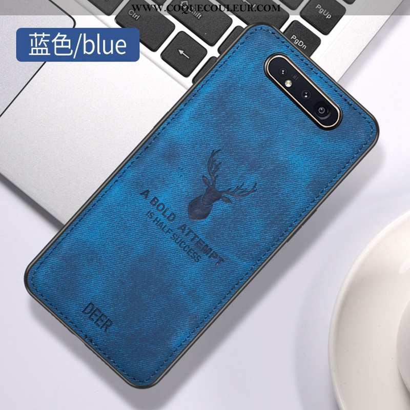 Housse Samsung Galaxy A80 Ornements Suspendus Modèle Fleurie Cerf, Étui Samsung Galaxy A80 Vintage F