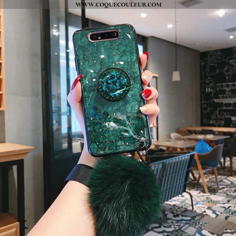 Coque Samsung Galaxy A80 Tendance Légères Étoile, Housse Samsung Galaxy A80 Légère Étui Verte