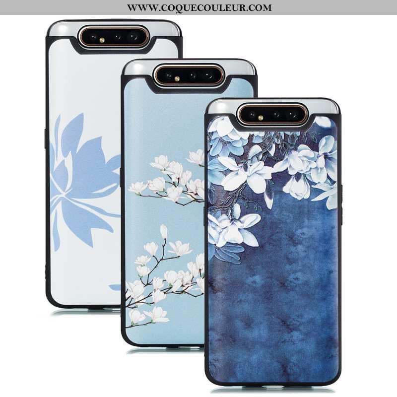 Étui Samsung Galaxy A80 Dessin Animé Coque Étoile, Samsung Galaxy A80 Tendance Bleu
