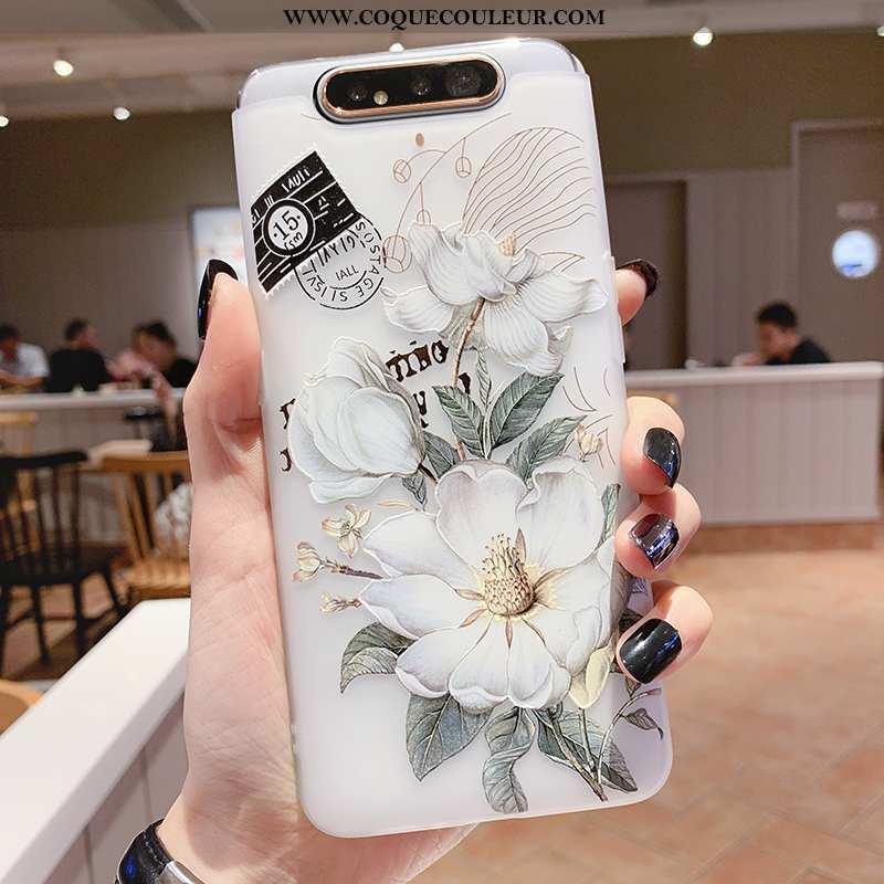 Housse Samsung Galaxy A80 Silicone Incassable Tout Compris, Étui Samsung Galaxy A80 Transparent Blan