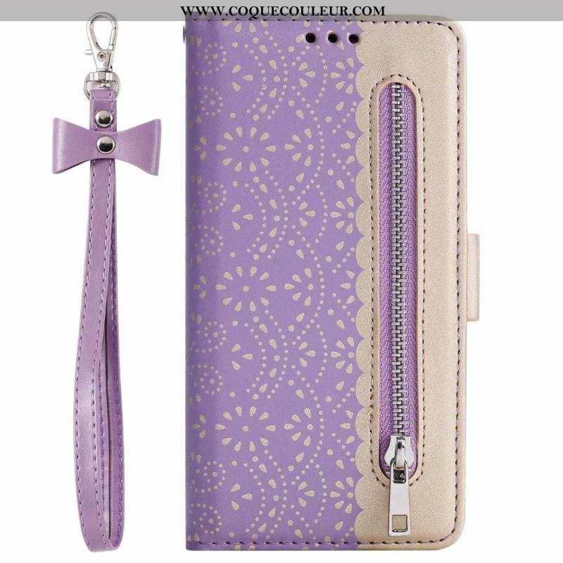 Étui Samsung Galaxy A80 Cuir Étoile, Coque Samsung Galaxy A80 Modèle Fleurie Housse Violet