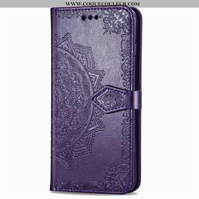 Housse Samsung Galaxy A80 Protection Étoile Coque, Étui Samsung Galaxy A80 Cuir Incassable Violet