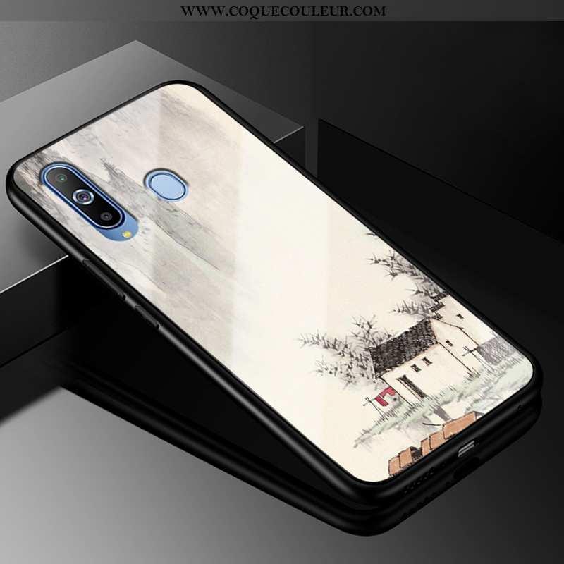 Housse Samsung Galaxy A8s Personnalité Coque Incassable, Étui Samsung Galaxy A8s Créatif Étoile Blan