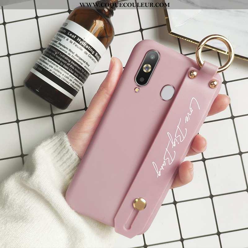 Housse Samsung Galaxy A8s Fluide Doux Incassable Légère, Étui Samsung Galaxy A8s Silicone Rose