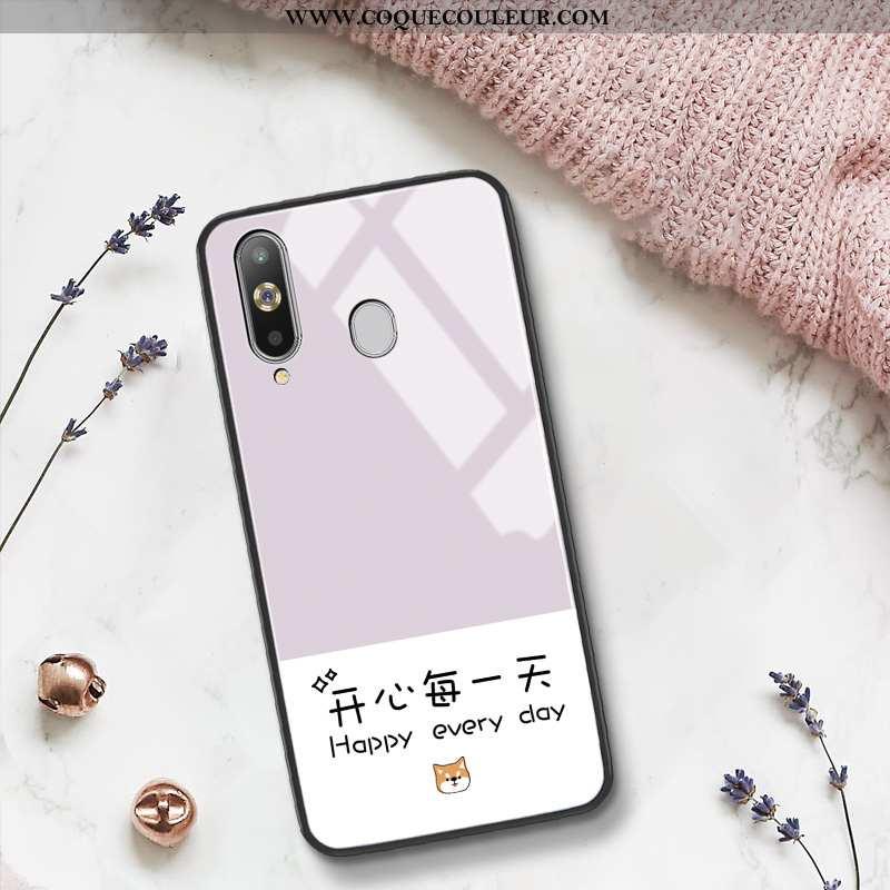 Housse Samsung Galaxy A8s Tendance Petit Net Rouge, Étui Samsung Galaxy A8s Silicone Difficile Rose