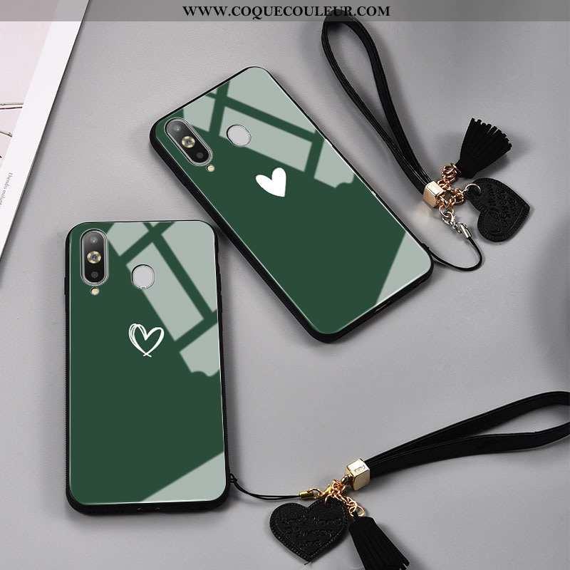 Étui Samsung Galaxy A8s Créatif Vert Peinte À La Main, Coque Samsung Galaxy A8s Tendance Miroir Vert