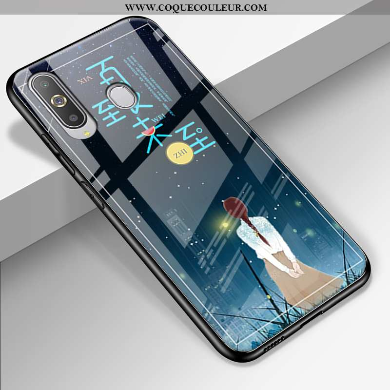 Étui Samsung Galaxy A8s Tendance Paysage Délavé En Daim, Coque Samsung Galaxy A8s Silicone Difficile