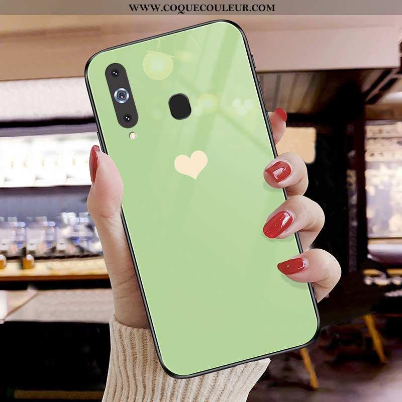 Housse Samsung Galaxy A8s Protection Coque Étoile, Étui Samsung Galaxy A8s Verre Tout Compris Verte