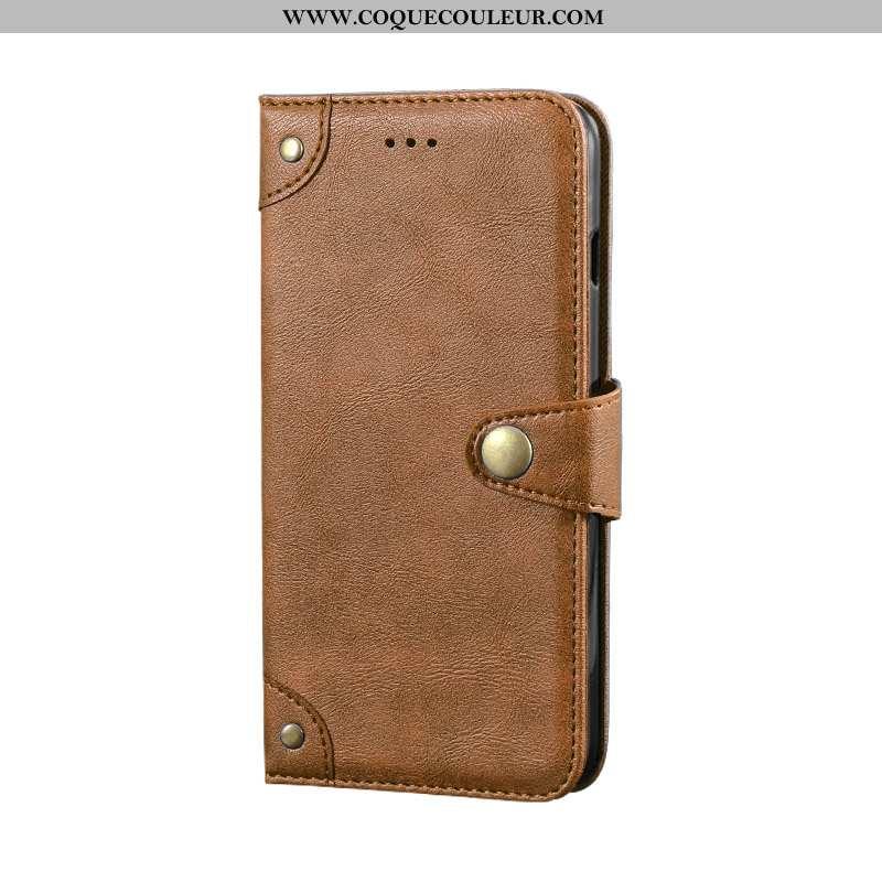 Coque Samsung Galaxy A8s Tendance Portefeuille Protection, Housse Samsung Galaxy A8s Cuir Khaki