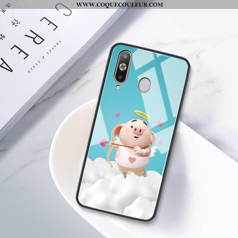 Étui Samsung Galaxy A8s Silicone Créatif Bleu, Coque Samsung Galaxy A8s Protection Difficile Bleu