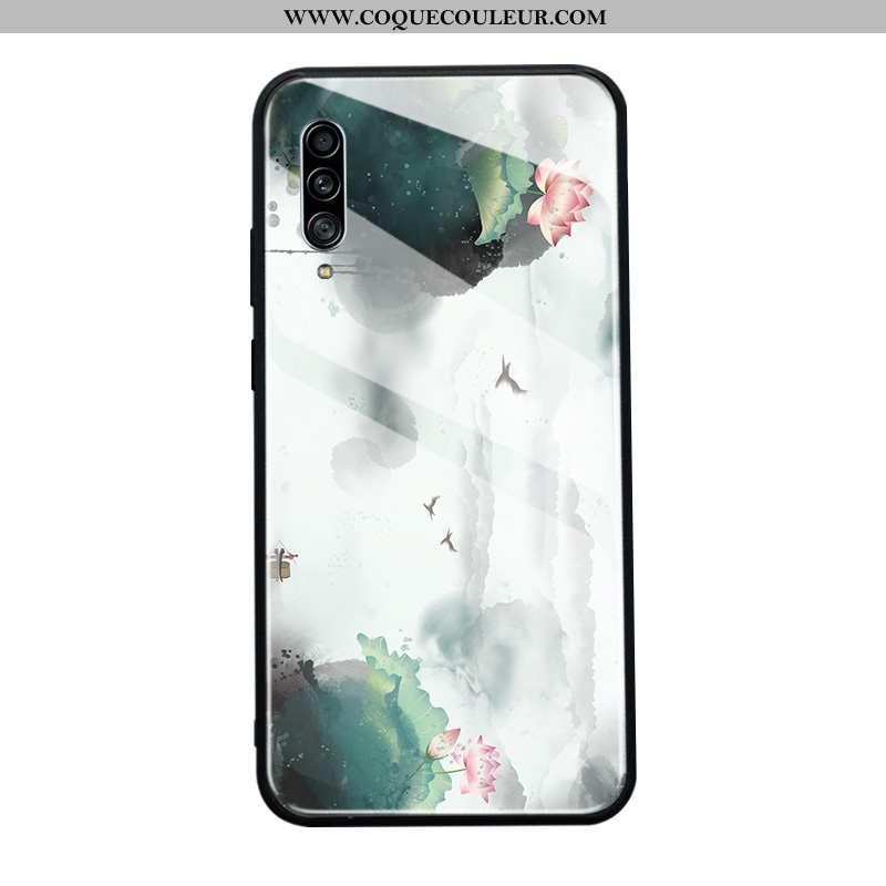 Coque Samsung Galaxy A90 5g Protection Étoile Étui, Housse Samsung Galaxy A90 5g Verre Verte