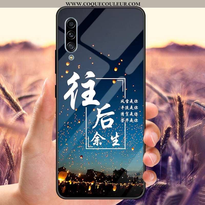 Étui Samsung Galaxy A90 5g Verre Tempérer Net Rouge, Coque Samsung Galaxy A90 5g Tout Compris Bleu M