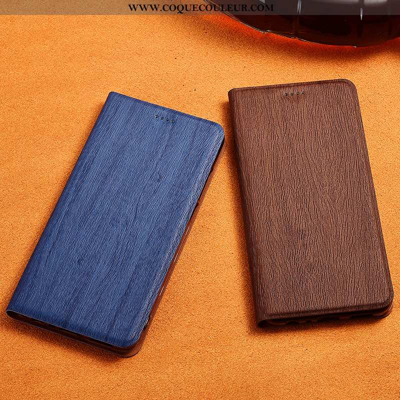 Coque Samsung Galaxy A90 5g Délavé En Daim Protection, Housse Samsung Galaxy A90 5g Cuir Étoile Bleu