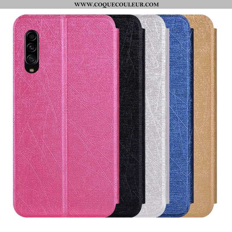 Étui Samsung Galaxy A90 5g Protection Housse Rose, Coque Samsung Galaxy A90 5g Cuir Incassable Rose