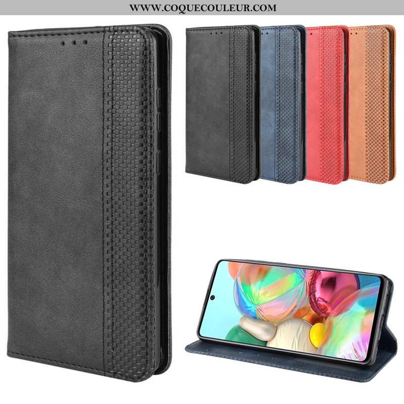 Housse Samsung Galaxy Note 10 Lite Cuir Coque Boucle Magnétique, Étui Samsung Galaxy Note 10 Lite Pr