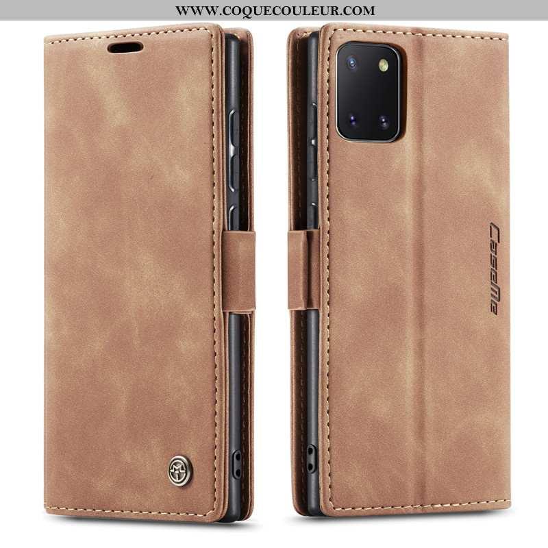 Coque Samsung Galaxy Note 10 Lite Créatif Étui Kaki, Housse Samsung Galaxy Note 10 Lite Cuir Incassa