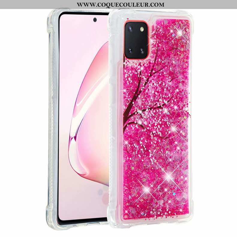 Étui Samsung Galaxy Note 10 Lite Fluide Doux Étoile Rose, Coque Samsung Galaxy Note 10 Lite Tout Com
