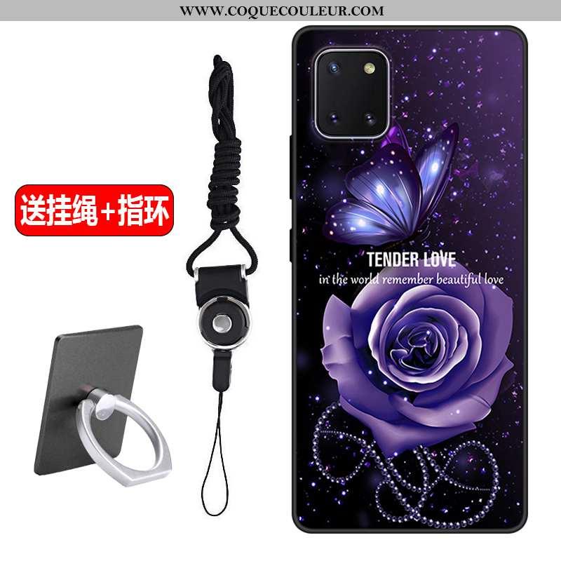 Coque Samsung Galaxy Note 10 Lite Délavé En Daim Dessin Animé Protection, Housse Samsung Galaxy Note