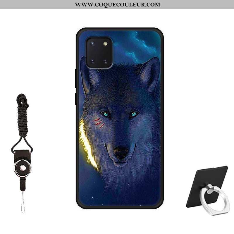Housse Samsung Galaxy Note 10 Lite Silicone Bleu Marin Tout Compris, Étui Samsung Galaxy Note 10 Lit