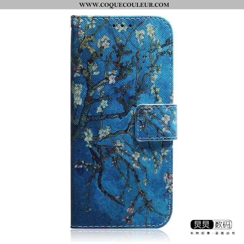 Coque Samsung Galaxy Note 10 Lite Cuir Étui, Housse Samsung Galaxy Note 10 Lite Charmant Bleu Marin