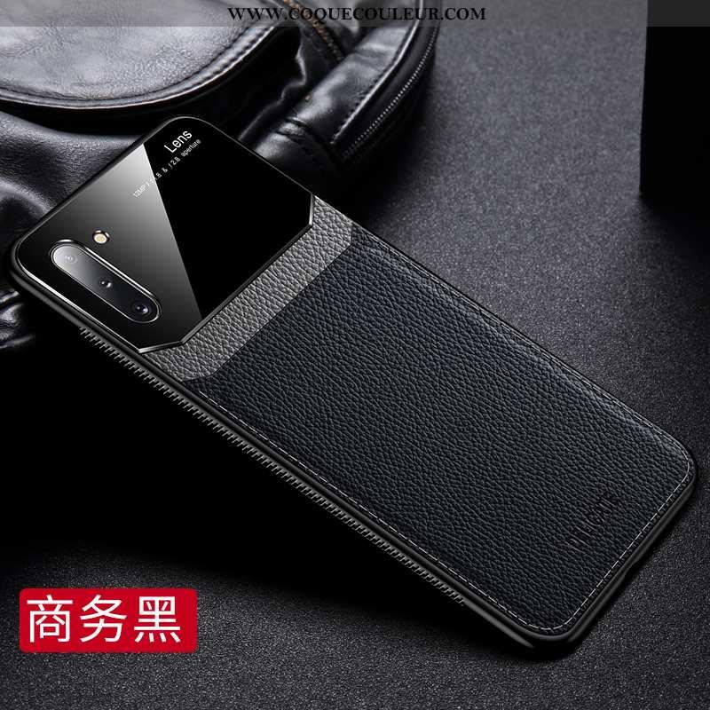Coque Samsung Galaxy Note 10 Délavé En Daim Silicone Téléphone Portable, Housse Samsung Galaxy Note