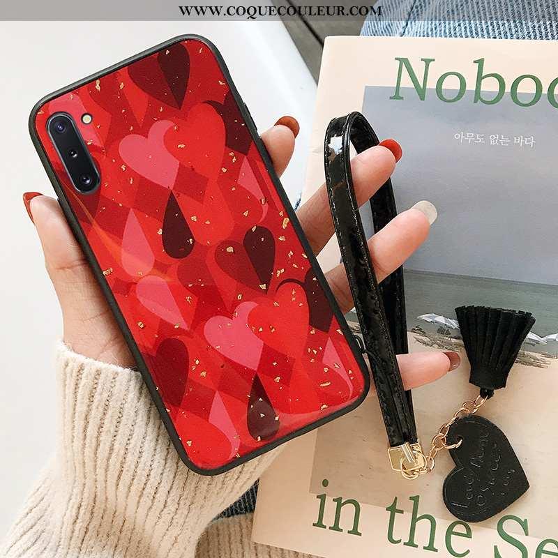 Coque Samsung Galaxy Note 10 Fluide Doux Incassable Rouge, Housse Samsung Galaxy Note 10 Silicone Té