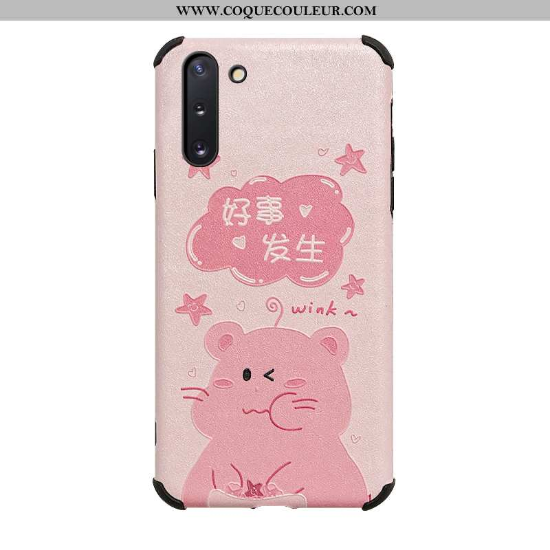 Coque Samsung Galaxy Note 10 Protection Rose Étui, Housse Samsung Galaxy Note 10 Tendance