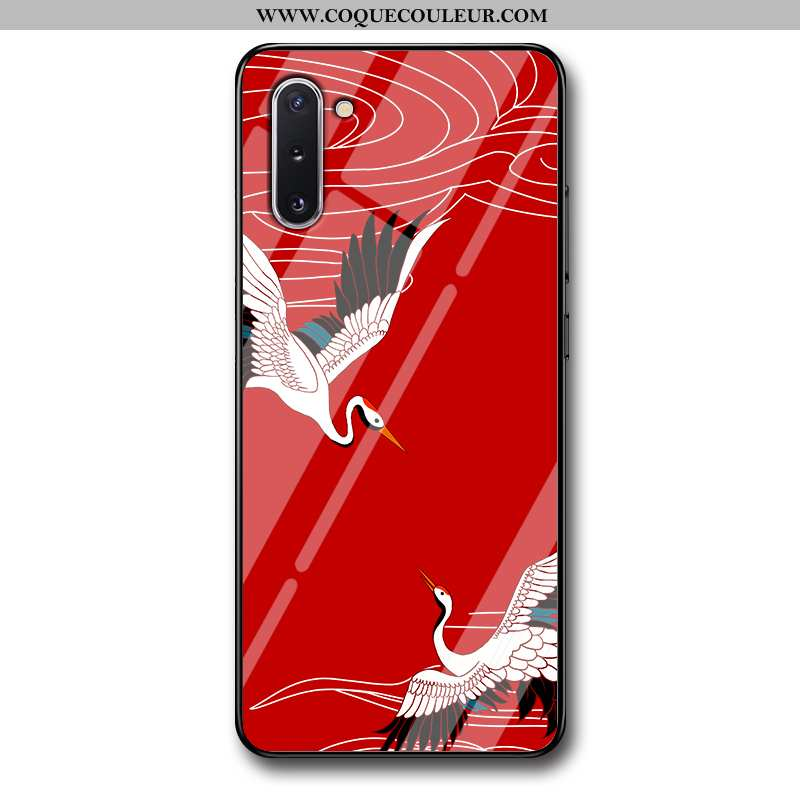 Coque Samsung Galaxy Note 10 Protection Silicone Grue, Housse Samsung Galaxy Note 10 Verre Tout Comp