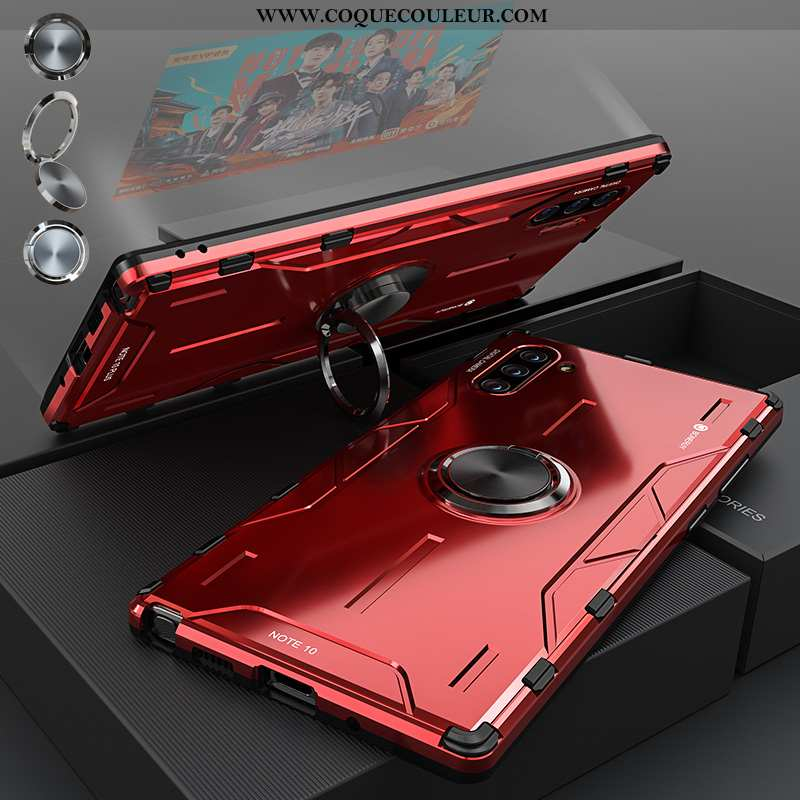 Coque Samsung Galaxy Note 10 Protection Rouge Coque, Housse Samsung Galaxy Note 10 Métal Fluide Doux