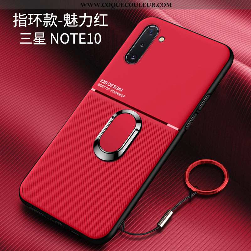 Étui Samsung Galaxy Note 10 Silicone Net Rouge Personnalité, Coque Samsung Galaxy Note 10 Protection