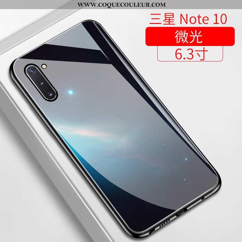 Housse Samsung Galaxy Note 10 Silicone Incassable Coque, Étui Samsung Galaxy Note 10 Verre Tendance