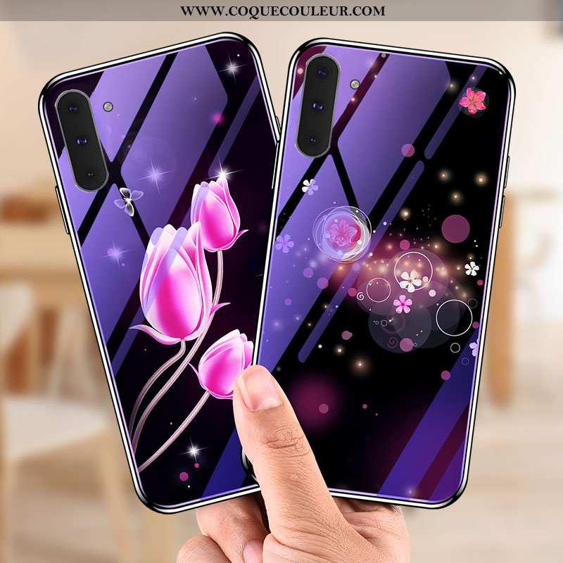 Coque Samsung Galaxy Note 10 Fluide Doux Tendance, Housse Samsung Galaxy Note 10 Verre Violet