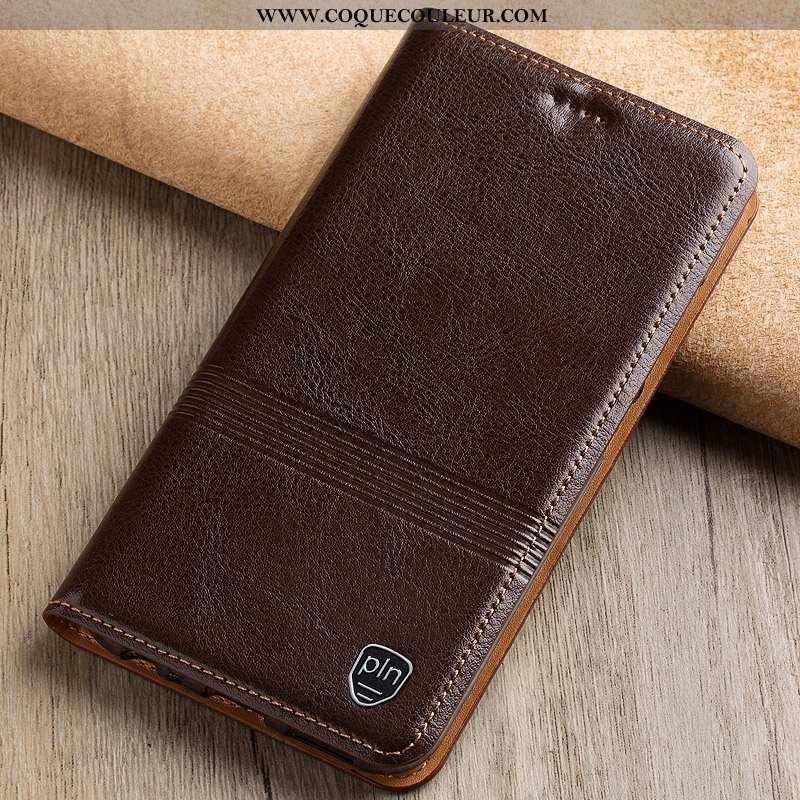 Étui Samsung Galaxy Note 10 Cuir Véritable Marron Étui, Coque Samsung Galaxy Note 10 Protection Hous