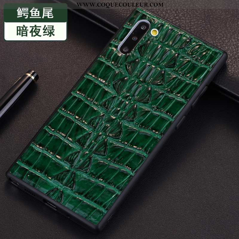 Étui Samsung Galaxy Note 10 Protection Coque Étui, Samsung Galaxy Note 10 Cuir Véritable Crocodile V