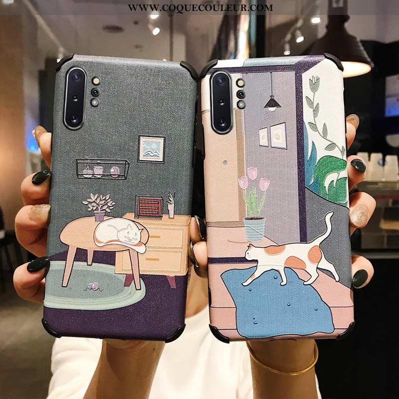 Housse Samsung Galaxy Note 10+ Modèle Fleurie Téléphone Portable Soie Mulberry, Étui Samsung Galaxy