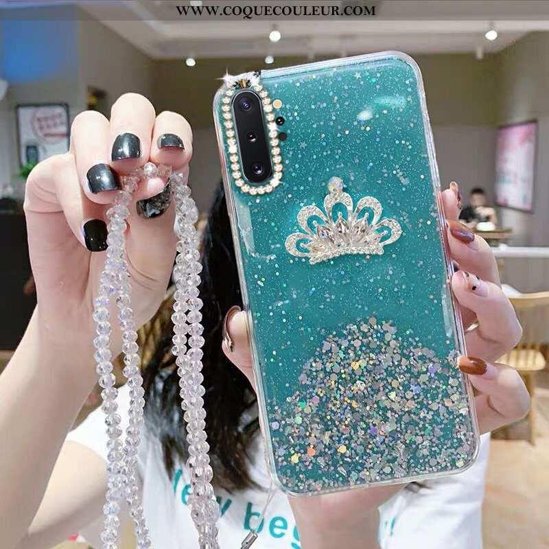 Étui Samsung Galaxy Note 10+ Fluide Doux Téléphone Portable Strass, Coque Samsung Galaxy Note 10+ Pr