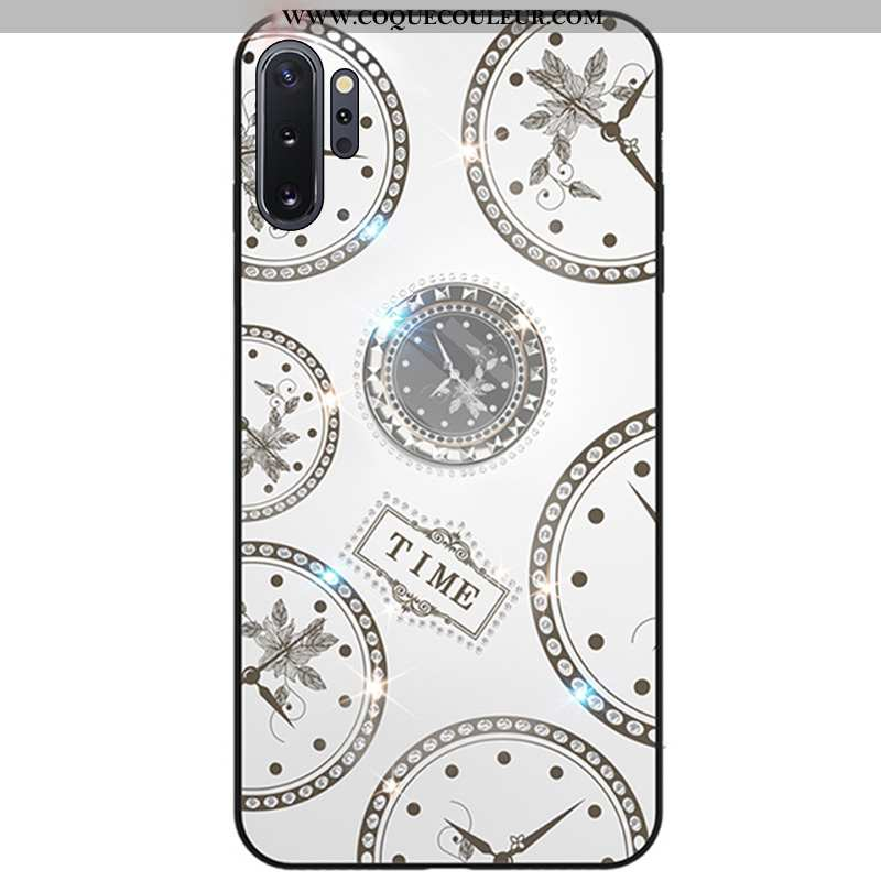 Étui Samsung Galaxy Note 10+ Strass Fluide Doux Coque, Coque Samsung Galaxy Note 10+ Créatif Étoile