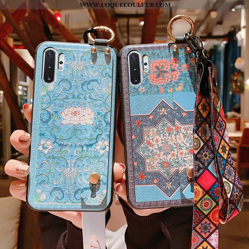 Housse Samsung Galaxy Note 10+ Vintage Protection Style Chinois, Étui Samsung Galaxy Note 10+ Fluide