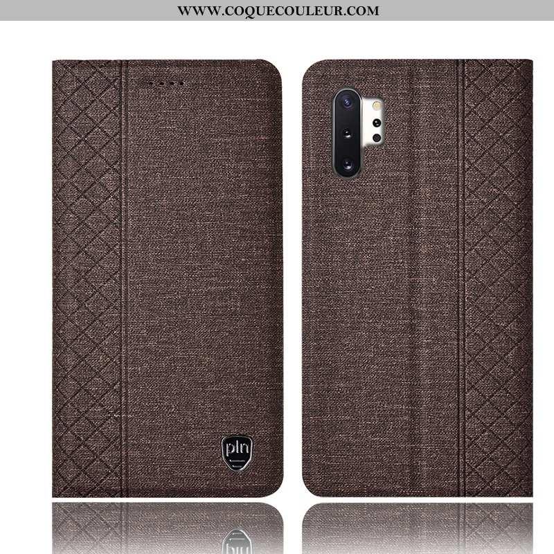 Housse Samsung Galaxy Note 10+ Protection Étoile Tout Compris, Étui Samsung Galaxy Note 10+ Cuir Gri