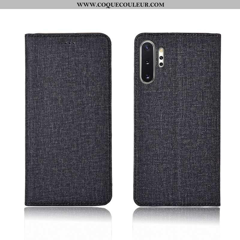 Étui Samsung Galaxy Note 10+ Cuir Silicone Étui, Coque Samsung Galaxy Note 10+ Fluide Doux Tout Comp
