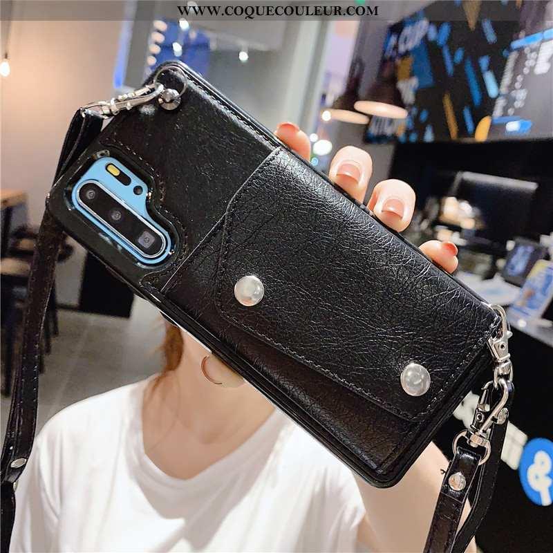 Étui Samsung Galaxy Note 10+ Cuir Étoile Étui, Coque Samsung Galaxy Note 10+ Mode Incassable Noir