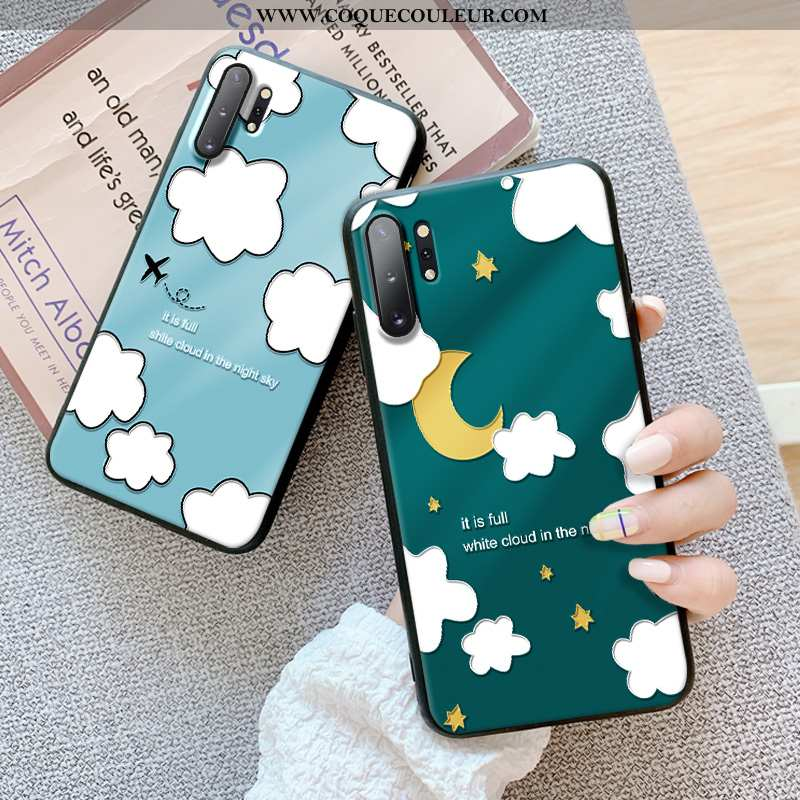 Coque Samsung Galaxy Note 10+ Fluide Doux Protection Vert, Housse Samsung Galaxy Note 10+ Silicone V