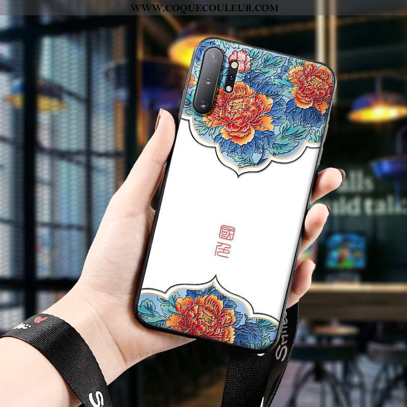Coque Samsung Galaxy Note 10+ Protection Silicone Style Chinois, Housse Samsung Galaxy Note 10+ Gauf